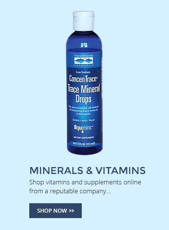 Minerals & Vitamins - Shop Now