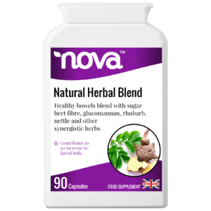 Natural Herbal Laxative - 90 Capsules in bottle