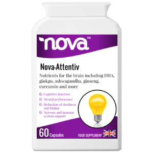 Nova Attentiv Capsules Concentrated food supplement in tub